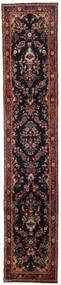Hamadan Tappeto 77X390 Orientale Fatto A Mano Alfombra Pasillo Rosso Scuro/Marrone Scuro (Lana, Persia/Iran)