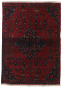Afghan Khal Mohammadi Rug 105X147 Authentic  Oriental Handknotted Dark Red (Wool, Afghanistan)