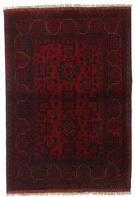 Afghan Khal Mohammadi Alfombra 99X144 Oriental Hecha A Mano Rojo Oscuro (Lana, Afganistán)