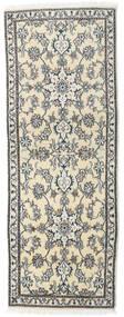 Nain Rug 75X200 Authentic  Oriental Handknotted Hallway Runner  Beige/Dark Grey (Wool, Persia/Iran)