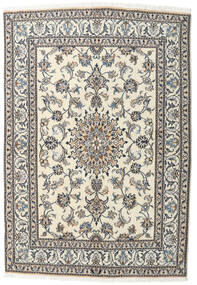 Nain Rug 145X209 Authentic  Oriental Handknotted Beige/Light Grey (Wool, Persia/Iran)