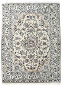 Nain Teppich  145X204 Echter Orientalischer Handgeknüpfter Beige/Dunkelgrau (Wolle, Persien/Iran)