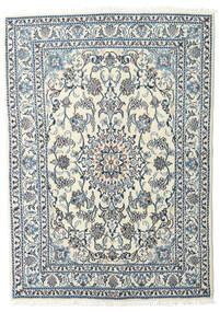 Nain Tapete 160X215 Oriental Feito A Mão Cinzento Claro/Bege (Lã, Pérsia/Irão)