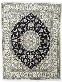 Nain Vloerkleed 200X245 Echt Oosters Handgeknoopt Beige/Donkerblauw (Wol, Perzië/Iran)
