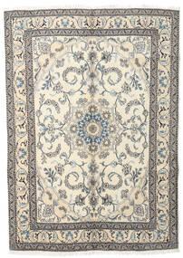 Nain Teppich  165X237 Echter Orientalischer Handgeknüpfter Beige/Hellgrau (Wolle, Persien/Iran)