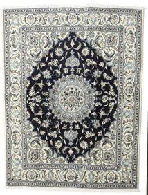 Nain Rug 200X245 Authentic  Oriental Handknotted Light Grey/Black (Wool, Persia/Iran)