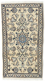 Nain Rug 72X132 Authentic  Oriental Handknotted Beige/Dark Grey/Dark Beige (Wool, Persia/Iran)