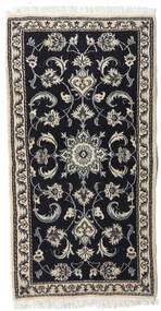 Nain Matta 74X143 Äkta Orientalisk Handknuten Mörkgrå/Ljusgrå (Ull, Persien/Iran)