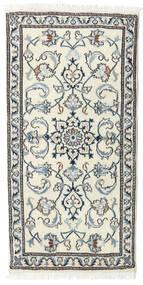 Nain Matto 68X137 Itämainen Käsinsolmittu Beige/Vaaleanharmaa (Villa, Persia/Iran)