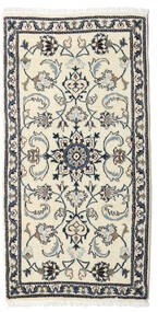 Nain Rug 69X137 Authentic  Oriental Handknotted Beige/Dark Grey (Wool, Persia/Iran)