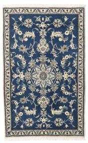 Nain Rug 90X150 Authentic  Oriental Handknotted Dark Blue/Dark Grey (Wool, Persia/Iran)