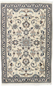 Nain Rug 90X144 Authentic  Oriental Handknotted Beige/Light Grey (Wool, Persia/Iran)