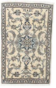 Nain Matto 85X139 Itämainen Käsinsolmittu Beige/Tummanharmaa (Villa, Persia/Iran)