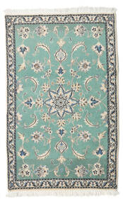 Nain Alfombra 86X139 Oriental Hecha A Mano Gris Claro/Azul Turquesa (Lana, Persia/Irán)