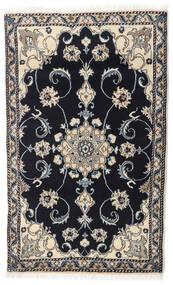 Nain Rug 90X144 Authentic  Oriental Handknotted Dark Grey/Light Grey (Wool, Persia/Iran)