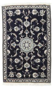 Nain Rug 88X137 Authentic  Oriental Handknotted Black/Light Grey (Wool, Persia/Iran)