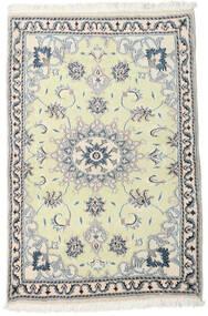 Nain Teppe 89X139 Ekte Orientalsk Håndknyttet Beige/Hvit/Creme (Ull, Persia/Iran)
