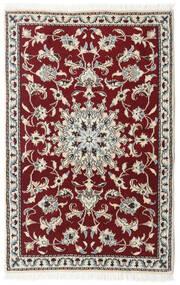 Nain Matto 89X139 Itämainen Käsinsolmittu Tummanpunainen/Beige/Vaaleanharmaa (Villa, Persia/Iran)