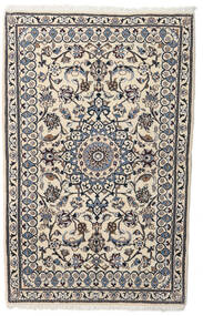 Nain Rug 88X140 Authentic  Oriental Handknotted Light Grey/Beige (Wool, Persia/Iran)