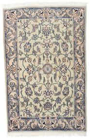 Nain Szőnyeg 92X143 Keleti Csomózású Világosszürke/Bézs (Gyapjú, Perzsia/Irán)
