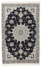 Nain Rug 93X148 Authentic  Oriental Handknotted Light Grey/Black (Wool, Persia/Iran)