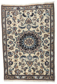 Nain Alfombra 88X123 Oriental Hecha A Mano Negro/Gris Claro (Lana, Persia/Irán)
