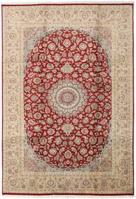 Tabriz Royal Tappeto 196X287 Orientale Fatto A Mano Rosso Scuro/Grigio Chiaro ( Pakistan)