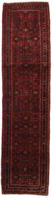 Hosseinabad Rug 75X275 Authentic  Oriental Handknotted Hallway Runner  Dark Red (Wool, Persia/Iran)