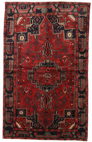 Hamadan Rug 147X240 Authentic  Oriental Handknotted Dark Red/Black (Wool, Persia/Iran)