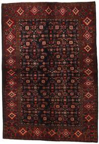 Hosseinabad Rug 161X236 Authentic  Oriental Handknotted Dark Brown/Dark Red (Wool, Persia/Iran)