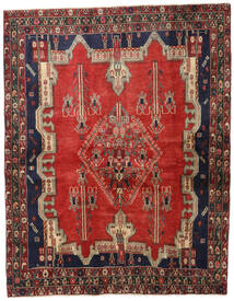 Afshar Rug 175X225 Authentic  Oriental Handknotted Rust Red/Dark Red (Wool, Persia/Iran)