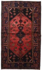 Hamadan Vloerkleed 131X224 Echt Oosters Handgeknoopt Zwart/Donkerrood (Wol, Perzië/Iran)