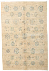 Ziegler Ariana Matta 150X224 Äkta Orientalisk Handknuten Beige/Mörkbeige (Ull, Afghanistan)