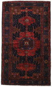 Hamadan Rug 134X235 Authentic  Oriental Handknotted Black/Dark Red (Wool, Persia/Iran)