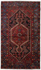 Hamadan Rug 135X234 Authentic  Oriental Handknotted Dark Red/Dark Brown (Wool, Persia/Iran)