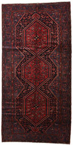 Hamadan Rug 144X288 Authentic  Oriental Handknotted Dark Red (Wool, Persia/Iran)