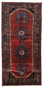 Hamadan Rug 122X257 Authentic  Oriental Handknotted Dark Red (Wool, Persia/Iran)