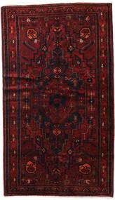 Hamadan Dywan 143X248 Orientalny Tkany Ręcznie Ciemnoczerwony (Wełna, Persja/Iran)