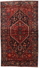 Hamadan Matta 150X262 Äkta Orientalisk Handknuten Mörkröd/Svart (Ull, Persien/Iran)