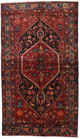 Hamadan Rug 150X262 Authentic  Oriental Handknotted Dark Red/Black (Wool, Persia/Iran)