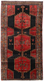 Hamadan Rug 145X278 Authentic  Oriental Handknotted Dark Red/Black (Wool, Persia/Iran)