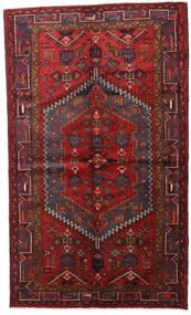 Hamadan Tapis 138X226 D'orient Fait Main Rouge Foncé/Noir (Laine, Perse/Iran)