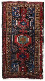 Hamadan Tappeto 75X135 Orientale Fatto A Mano Marrone Scuro/Rosso Scuro (Lana, Persia/Iran)