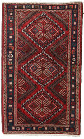 Hamadan Rug 77X122 Authentic  Oriental Handknotted Dark Red (Wool, Persia/Iran)
