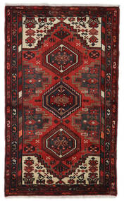 Hamadan Rug 77X125 Authentic  Oriental Handknotted Dark Red/Dark Brown (Wool, Persia/Iran)