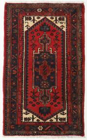 Hamadan Rug 70X120 Authentic  Oriental Handknotted Black/Dark Red (Wool, Persia/Iran)