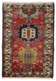 Hamadan Dywan 70X105 Orientalny Tkany Ręcznie Ciemnoczerwony/Ciemnoszary (Wełna, Persja/Iran)