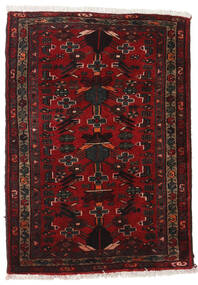 Hamadan Rug 67X98 Authentic  Oriental Handknotted Dark Brown/Dark Red (Wool, Persia/Iran)
