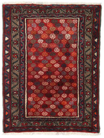 Hamadan Rug 75X95 Authentic  Oriental Handknotted Dark Red (Wool, Persia/Iran)