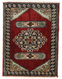Hamadan Rug 72X94 Authentic  Oriental Handknotted Dark Red/Dark Brown (Wool, Persia/Iran)